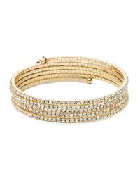 Anne Klein - Metallic Goldtone Multi-strand Bangle - Lyst
