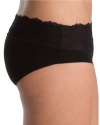 Spanx | Black Undie-tectable Lace Waist Hipster | Lyst