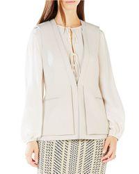 BCBGMAXAZRIA   White Eddie Double-layer Vest   Lyst