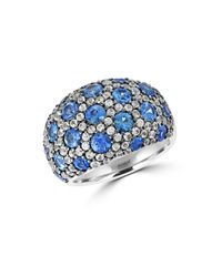 Effy - Blue Sapphire, White Sapphire And Sterling Silver Ring - Lyst