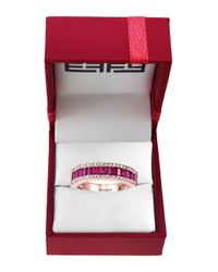 Effy - Pink Amore Diamond, Ruby And 14k Rose Gold Ring - Lyst