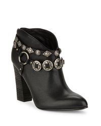 Belle By Sigerson Morrison | Black Fusion Leather Ankle Boots | Lyst