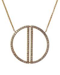 Effy | Metallic Diamond Cutout Circle Pendant Necklace, 0.97tcw | Lyst
