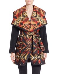Pendleton | Black Wool-blend Flyaway Coat | Lyst