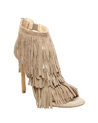 Steve Madden | Natural Fringly Suede High-heel Sandals | Lyst