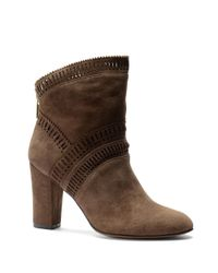 Isola | Gray Evoda Lasercut Suede Ankle Boots | Lyst
