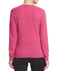 Lord & Taylor - Pink Plus Basic V-neck Cashmere Sweater - Lyst