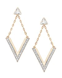 Swarovski | Metallic Delta Crystal Stud And Drop Earrings Set | Lyst