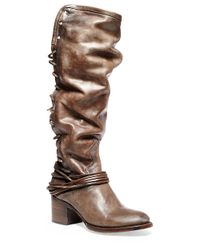 Freebird by Steven | Brown Coal Leather Boots | Lyst