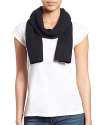 Lord & Taylor - Black Knit Cashmere Scarf - Lyst