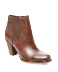 Steven by Steve Madden | Brown Roami Leather Booties | Lyst