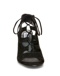 Steve Madden | Black Nilunda Suede Lace-up Sandals | Lyst