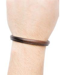 Hook + Albert | Brown Leather Bangle Bracelet for Men | Lyst