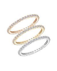 Swarovski | Metallic Three-piece Vittore Cubic Zirconia Ring Set | Lyst