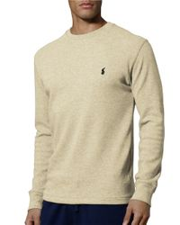 d21189e89 Polo Ralph Lauren Thermal Top in Natural for Men - Lyst
