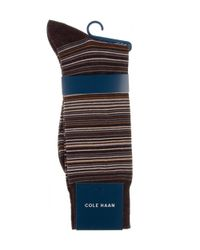 Cole Haan | Blue Multi-stripe Crew Socks | Lyst