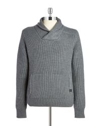 Victorinox   Gray Wool Shawl-collared Sweater for Men   Lyst