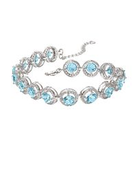 Lord & Taylor | Metallic Blue Topaz, White Topaz And Sterling Silver Bracelet | Lyst