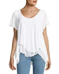 Free People | White Cookie Tee | Lyst