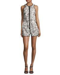 Artistix - White Sleeveless Printed Jumpsuit - Lyst