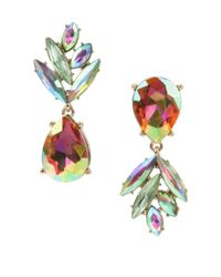 Betsey Johnson | Yellow Tropical Punch Pineapple Mismatch Drop Earrings | Lyst