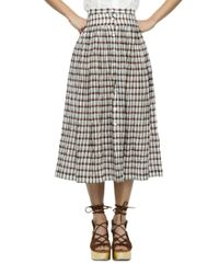 Nikki Chasin | Multicolor Button-front Plaid Skirt | Lyst