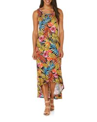 Rafaella - Black Floral Sleeveless Maxi Dress - Lyst