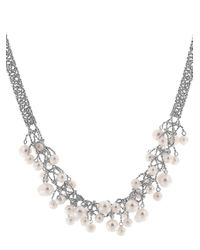 Effy - Metallic Pearl Lace 925 Sterling Silver And Freshwater Pearl Necklace - Lyst