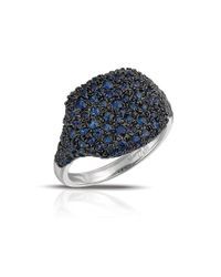 Marco Moore - Blue Sapphire And 14k White Gold Cocktail Ring - Lyst