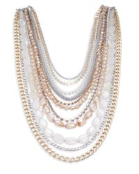 ABS By Allen Schwartz - Metallic Multi-row Two-tone Necklace - Lyst