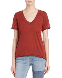 Free People | Red Pearls Tee | Lyst