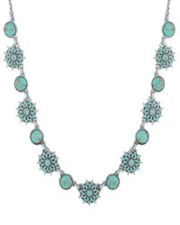Lucky Brand | Metallic New West Turquoise Collar Necklace | Lyst