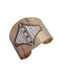 Jenny Packham | Metallic Secret Origins Pearl Chained Cuff Bracelet | Lyst