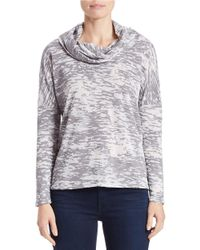 Lord & Taylor | White Burnout Cowlneck Top | Lyst