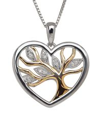 Lord & Taylor | Metallic Diamond, Sterling Silver And 14k Yellow Gold Tree Pendant Necklace | Lyst