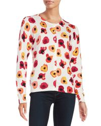 Lord & Taylor | Multicolor Animal-print Cotton-modal Cardigan | Lyst