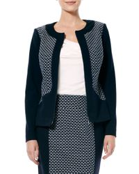 Laundry by Shelli Segal | Multicolor Paneled Zip-front Jacket | Lyst
