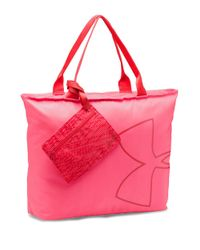 Under Armour   Pink Big Logo Tote Bag   Lyst