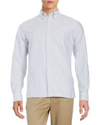 Brooks Brothers Red Fleece | Blue Striped Oxford Sportshirt for Men | Lyst