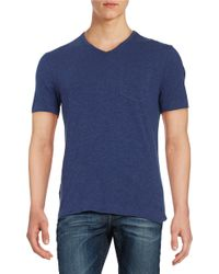 Original Penguin | Blue V-neck Pocket Tee for Men | Lyst