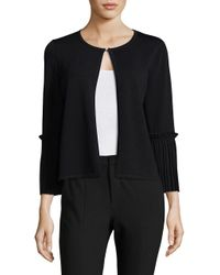 Ivanka Trump | Black Three-quarter Sleeves Cardigan | Lyst