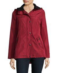 Weatherproof - Red Snap Hooded Jacket - Lyst