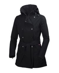 Helly Hansen   Black Welsey Hellytech Weather-proof Trenchcoat   Lyst