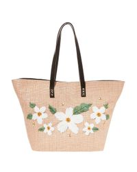 Betsey Johnson - Natural Daisy'd And Confused Tote - Lyst