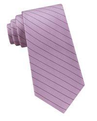 CALVIN KLEIN 205W39NYC - Purple Seed-stripe Silk Tie for Men - Lyst