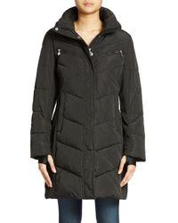 Calvin Klein   Black Colorblocked Puffer Coat   Lyst