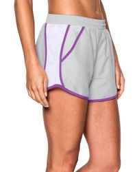 Under Armour - Gray Fly-by Lightweight Shorts - Lyst