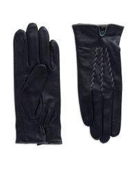 Lauren by Ralph Lauren - Black Leather Gloves - Lyst