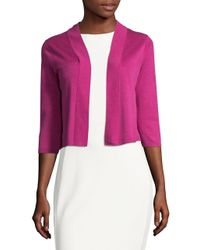Tommy Bahama | Pink Ocean Cropped Cardigan | Lyst