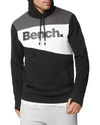 Bench - Black Heritage Colorblocked Hoodie for Men - Lyst